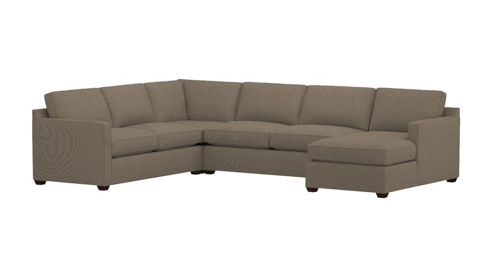 Awesome Cratebarrel Davis 4 Piece Sectional Sofa Fabric Darius Download Free Architecture Designs Terstmadebymaigaardcom