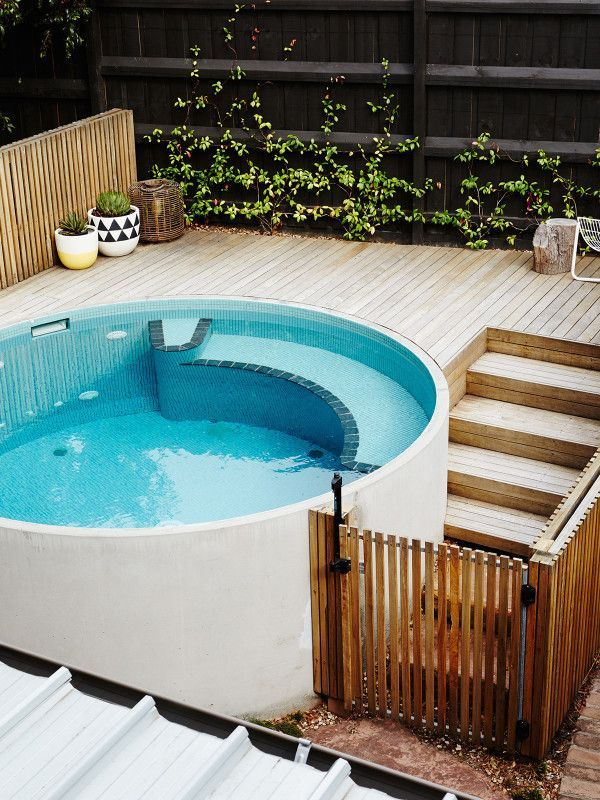 Matt And Carly Skinner The Design Files Australia S Most Popular Design Blog Small Pool Design Swimming Pools Backyard Small Backyard Pools