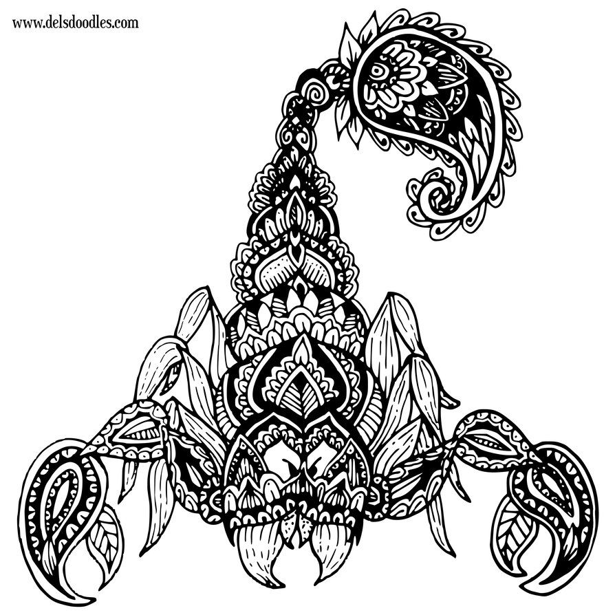 Trying Something Different Merging More Geometric Shapes With My Usual Organic Flowery Shapes If You Like My Scorpion Tattoo Fighting Tattoo Scorpio Tattoo