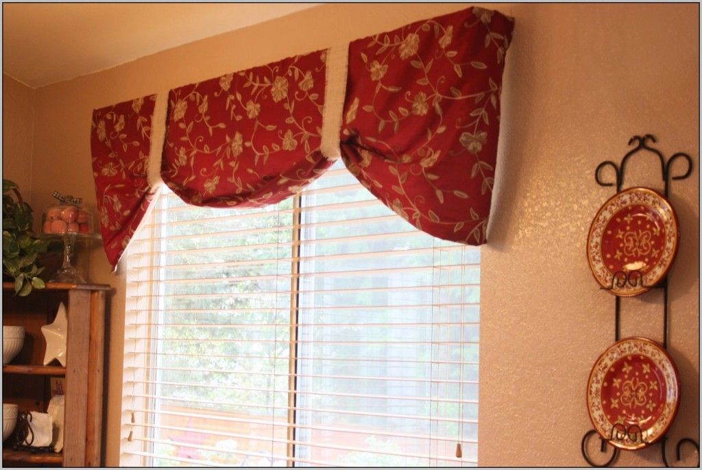 Kitchen Curtains And Valances Red Home Decorating Ideas Kitchen