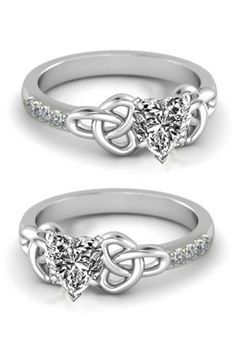 heart celtic knot engagement ring not a fan of the diamond shape but i like the celtic knots - Celtic Knot Wedding Rings