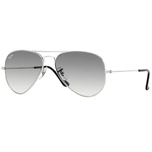 959e122ed83a1 Oculos De Sol Masculino Armacao Metal Prateado Lente Cinza Degrade - Ray  Ban - Por apenas US  166.00