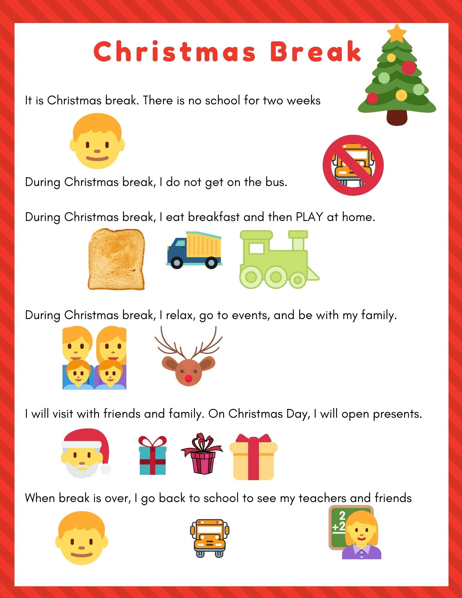 Nd Christmas Break 2020 Christmas Break Social Story (Free Printables!) | Ish Mom in 2020