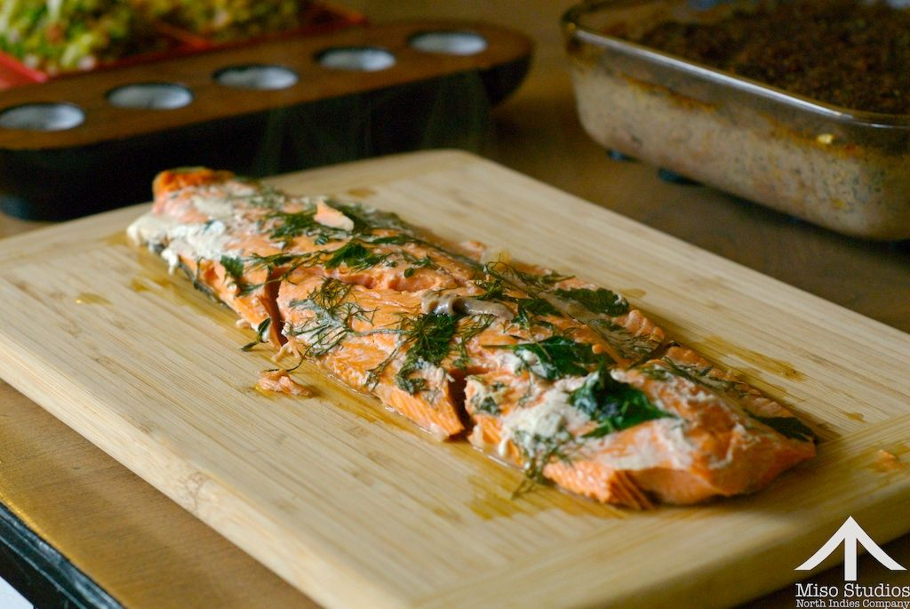 Mmm...Salmon infused with coconut juice.  Yep...making that!