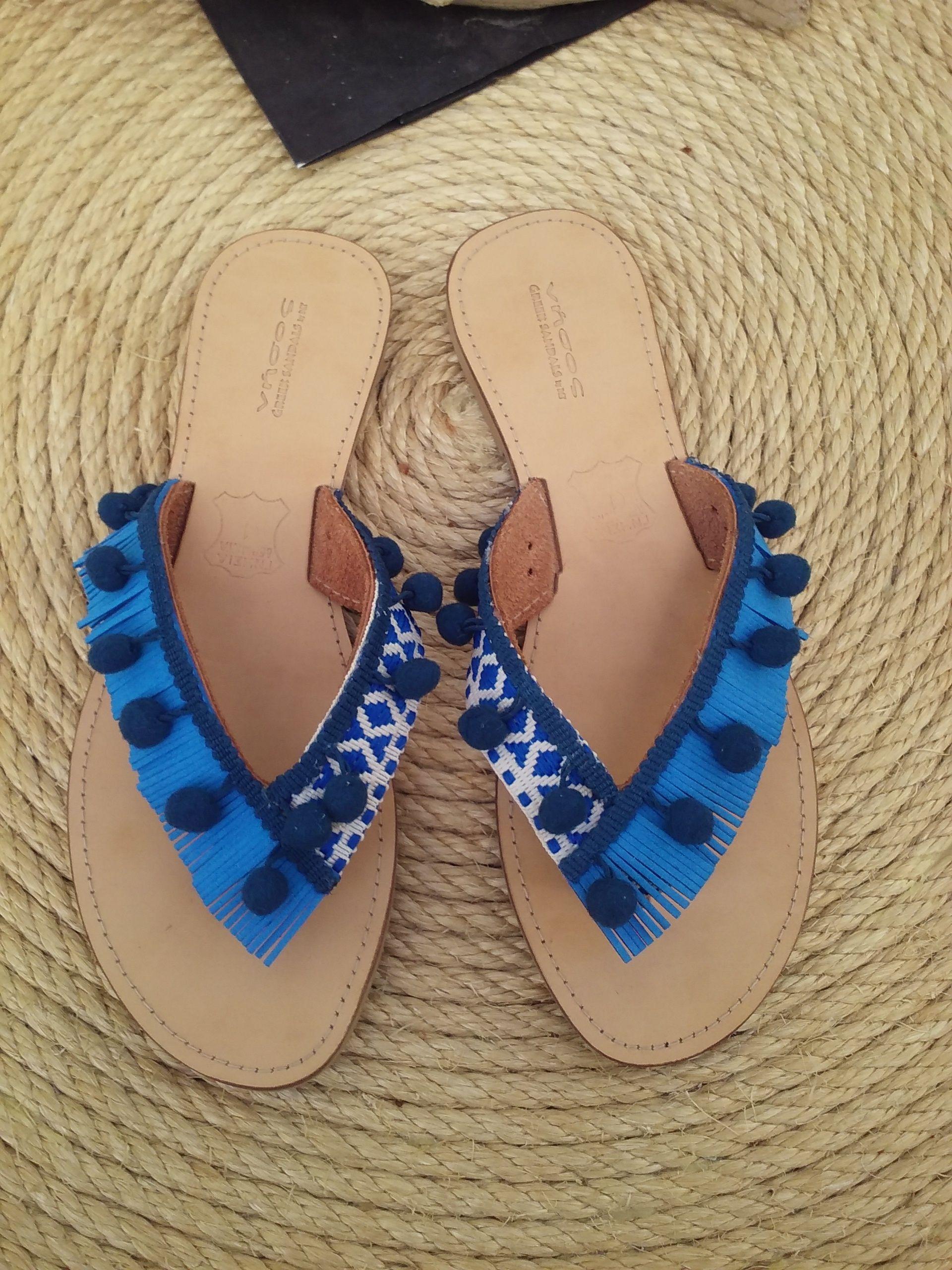 d4ec213ab11 Boho style sandals Χειροποίητα δερμάτινα σανδάλια   Νήσος by D&T ...