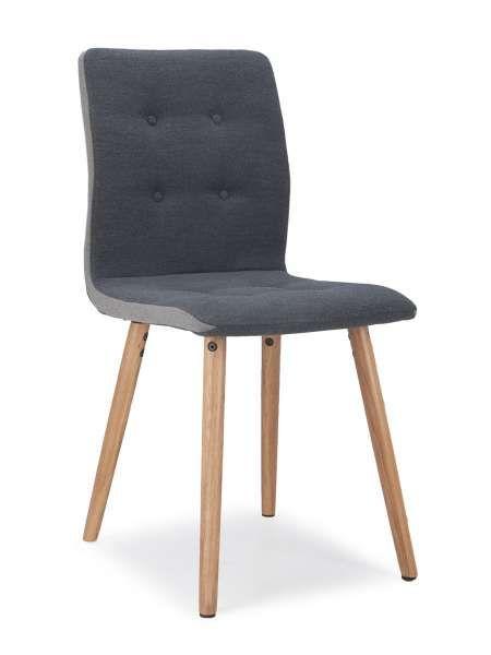 In Einem Unaufgeregten Und Zugleich Optisch Ansprechenden Design Ist Der  Stuhl SELLA Gefertigt. Ein Grauer Webstoffbezug, Mit Knöpfen Durchzogen, C.