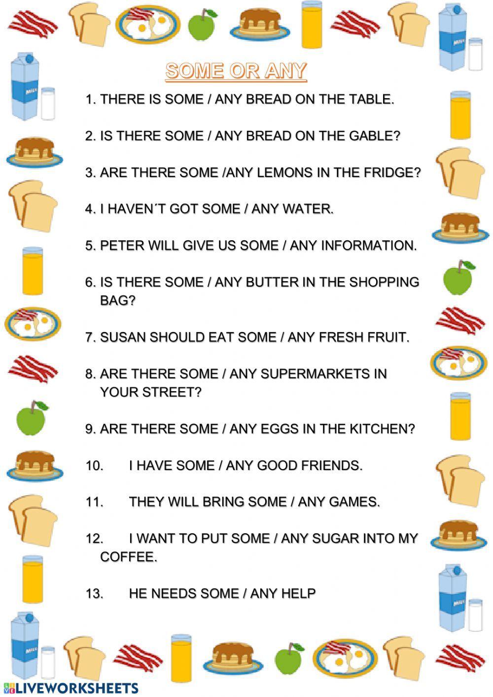Some Or Any Interactive Worksheet Teaching Kindergarten Writing English Grammar For Kids Grammar For Kids [ 1413 x 1000 Pixel ]