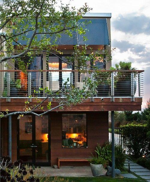 Modern Balcony, Modern Lake House