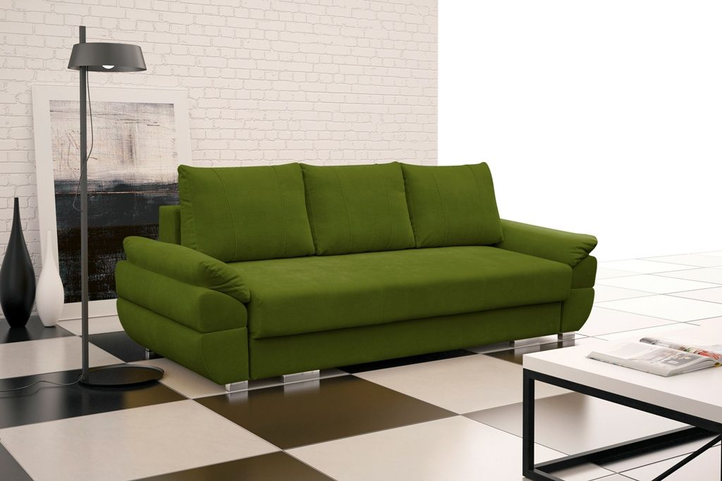Details zu SOFA Couch mit Schlaffunktion Polstergarnitur Elegante