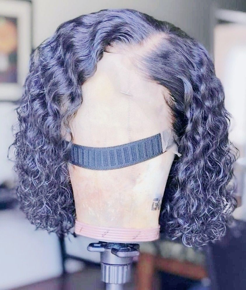 12 inch full lace wig pre-plucked hairline bleach