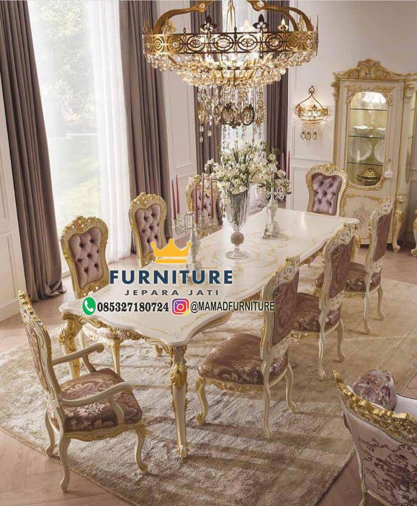 Meja Makan Mewah Terbaru Jepara Dining Room Table Chairs Luxury