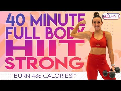 40 Minute Full Body HIIT Strong Cardio �Burn 485 Calories �At-Home Workout Challenge 2.0 | Day 1
