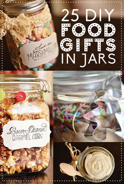 Homemade christmas food gifts in a jar