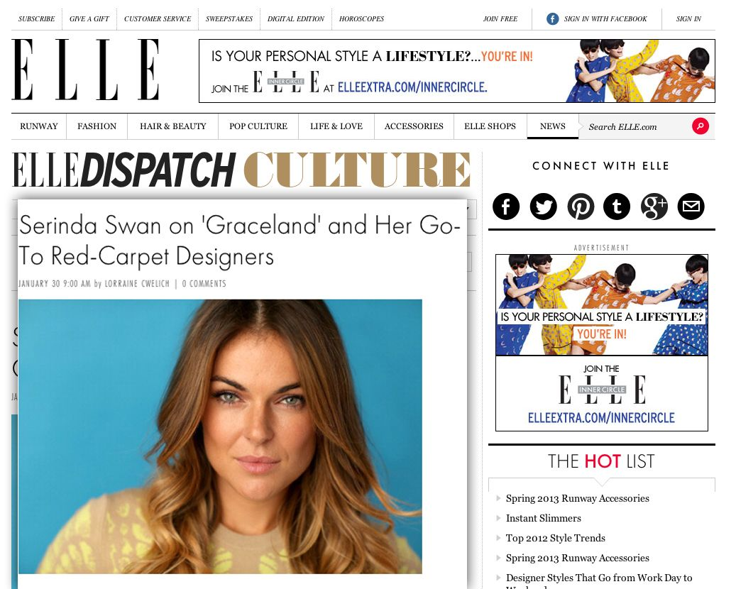 Ellecom 48 Best Nma Clients Images On Pinterest Serinda Swan Graceland