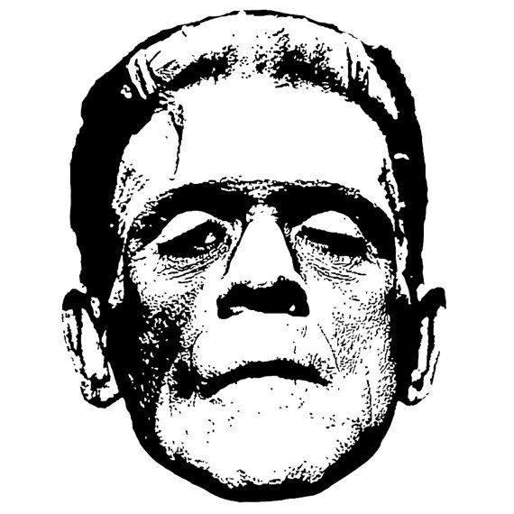 Vintage Frankenstein Graphic Vectors Clip Art By Viciousdelights Clipart Black And White Free Clip Art Clip Art