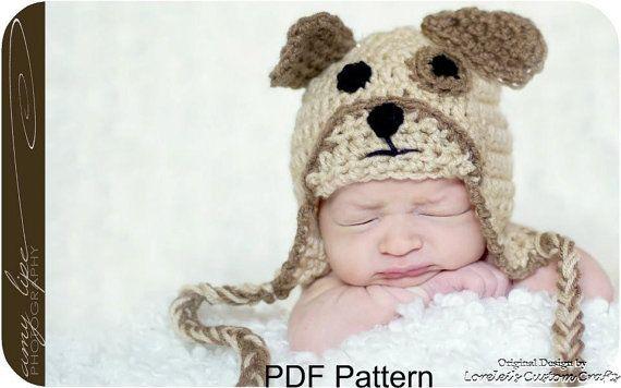 Puppy Hat Pattern Dog Hat Pattern Crochet Puppy Dog Hat Pattern