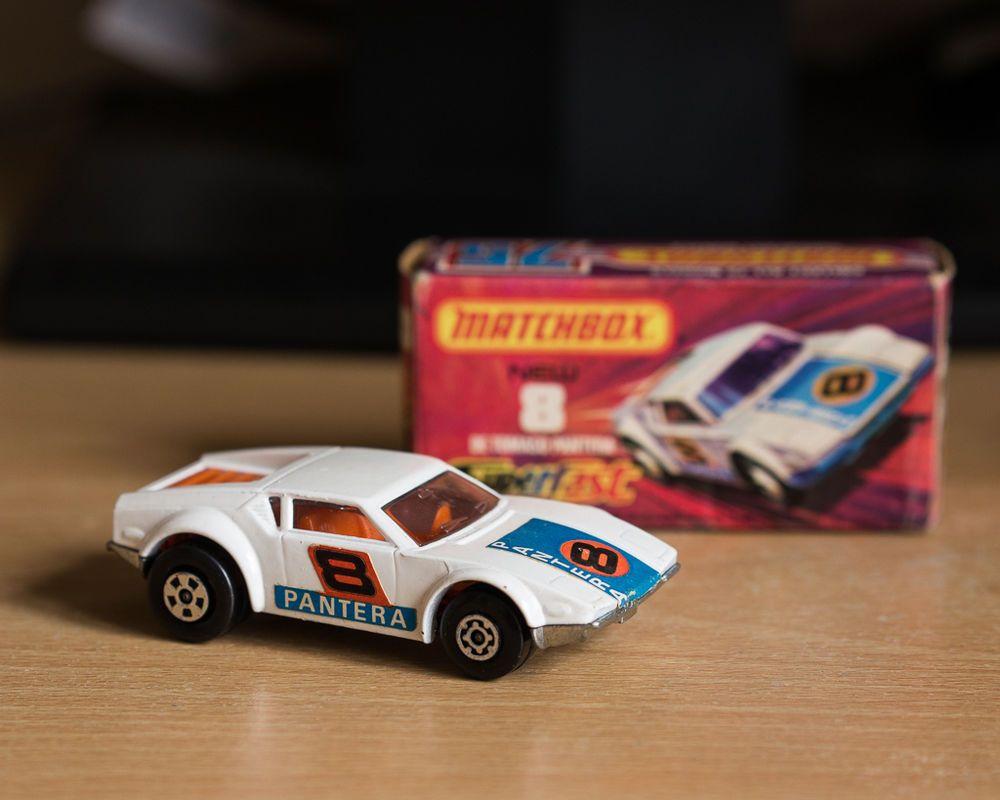 Vintage 1975 Matchbox De Thomaso Pantera toy car Toy car