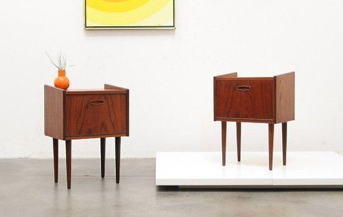 Mid Century Modern Scandinavian Teak Side Table 1960s