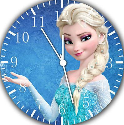 New Disney Frozen Elsa wall Clock 10 will be nice Gift and Room