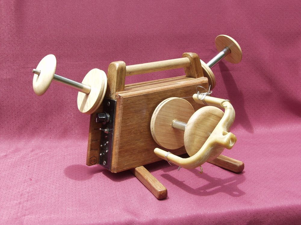 The Jenny is a lovely hand-crafted Australian made electric spinning wheel for table-top use. Quiet and compact, Jenny espinner weighs less than 3kg.It comes with extra features to enable you to spin bulky art yarn as well as finer handspun yarn. Features:Jenny Espinner has simple controls, an on/off pause switch, variable speed control