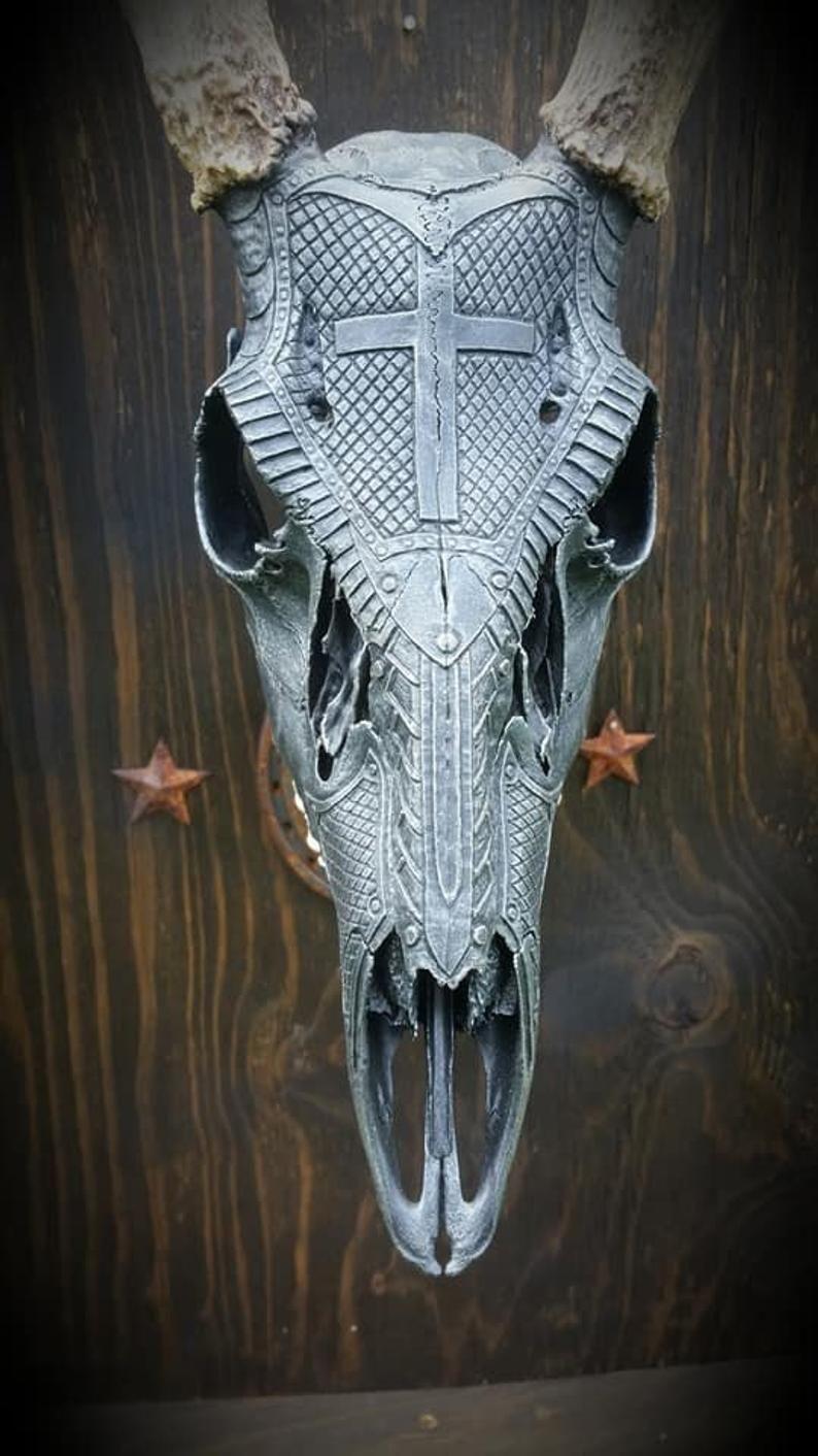 Carved deer skull in 2020 with images deer skull art