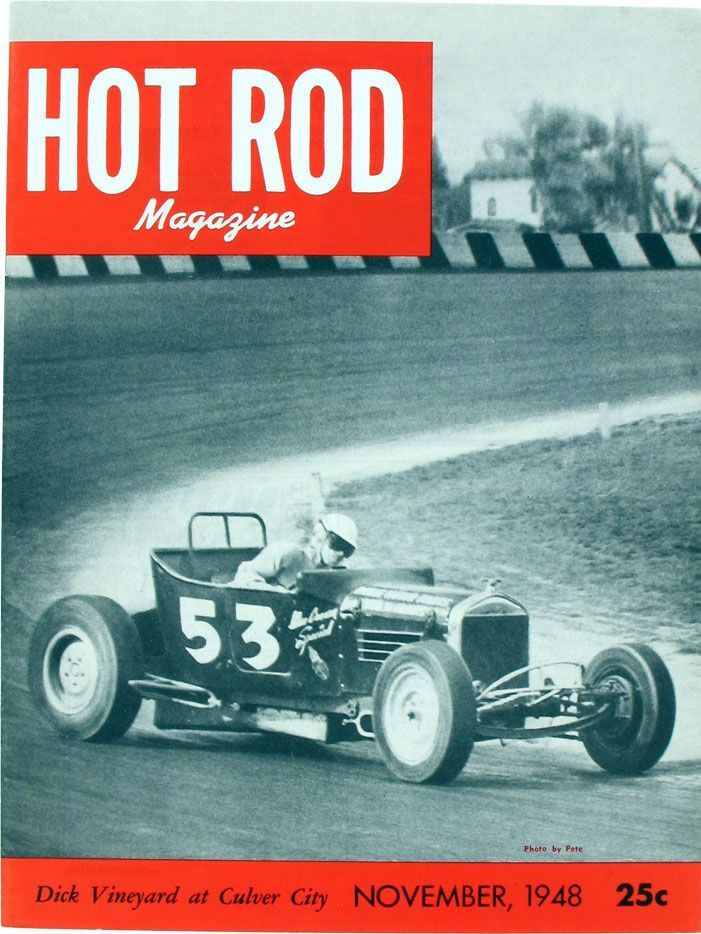 HOT ROD, November 1948. See all HOT ROD covers at http://www.hotrod ...