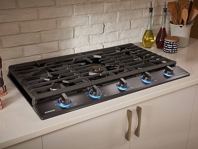 Samsung Chef 36 Inch Gas Cooktop Black Stainless Steel In 2020