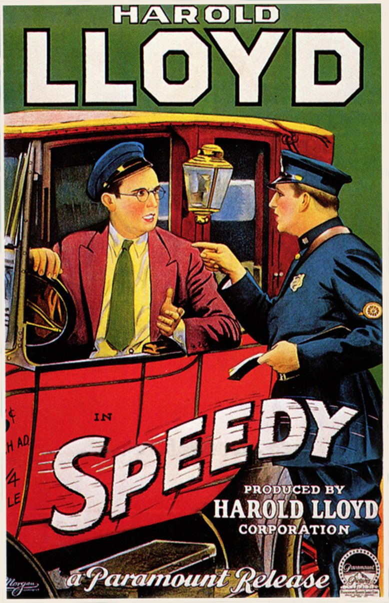 Speedy (1928) Harold Lloyd, Ann Christy - silent film poster (With ...