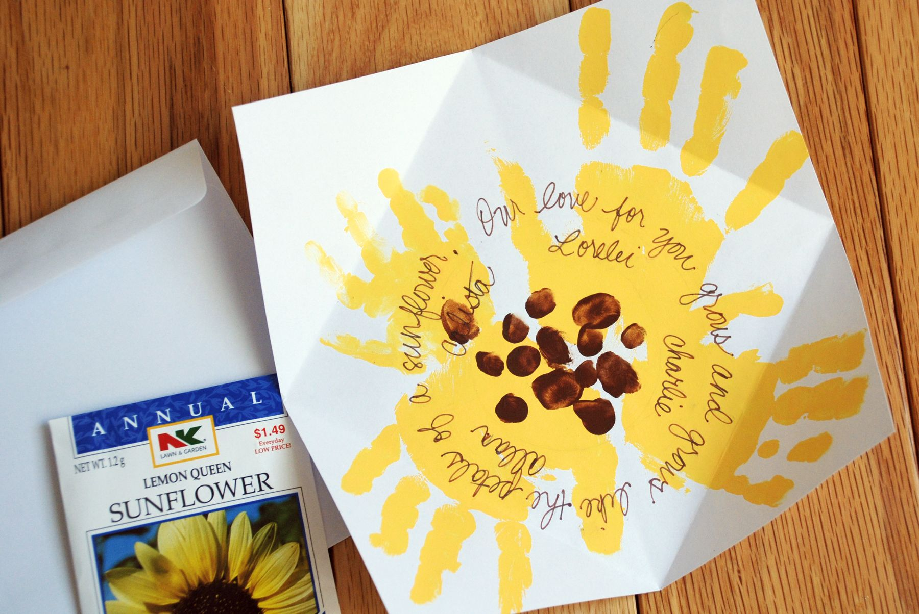 Church crafts children mother 39 s day sunflower for Mothers day cards from preschoolers