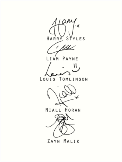 One Direction Signatures One Direction Liam Payne Directions