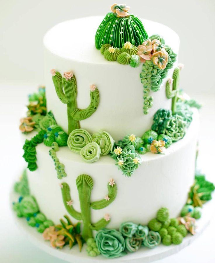 Buy Amazon: /31bcjOk Cactus cake made by greatdanebakingco . . . . - Beautiful Cakes amp; Cupcakes -