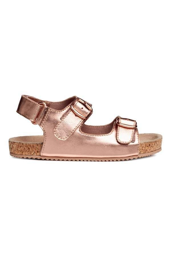 81732c800ba7 H M H   M - Suede Sandals - Rose gold-colored - Kids