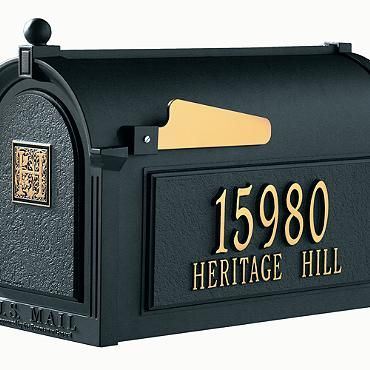 Capitol Monogrammed Mailbox Frontgate