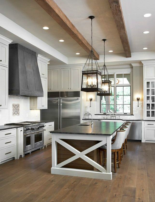 white farm kitchen exposed wooden beams transitional on awesome modern kitchen design ideas recommendations for you id=91539