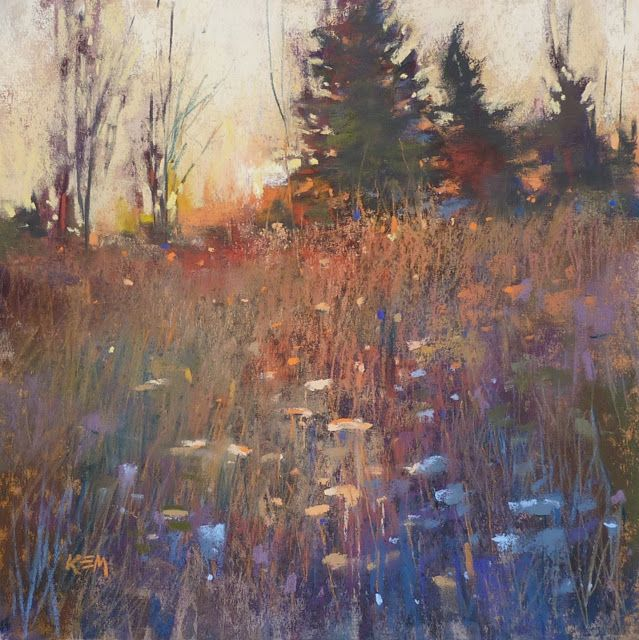 An Easy Tip For Finishing A Painting Landscape Paintings Pastel Art Easy Landscape Paintings