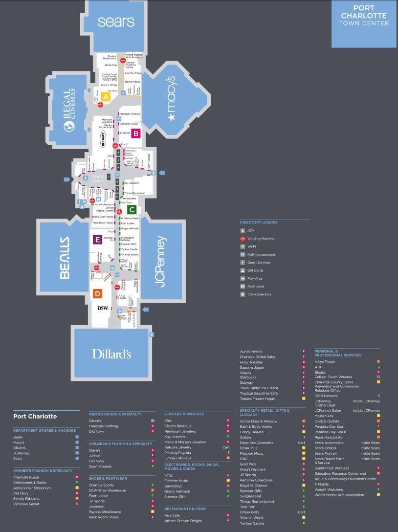 Port Charlotte Town Center Shopping Plan Port Charlotte Commercial Complex Port