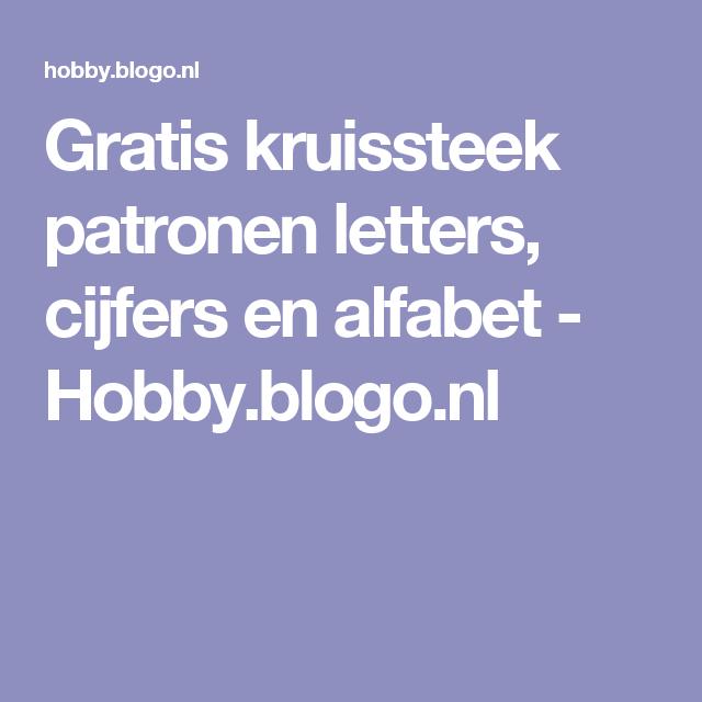 Gratis Kruissteek Patronen Letters Cijfers En Alfabet