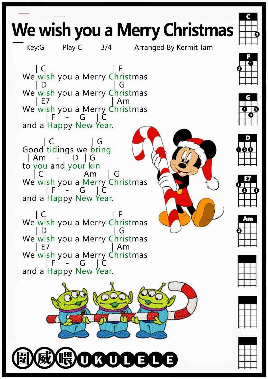 #merrychristmaswishes in 2020   Christmas ukulele songs, Ukulele songs, Ukulele music