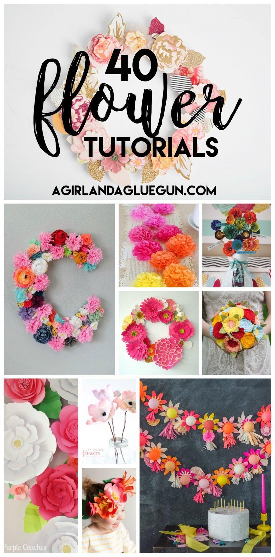 All things floral flower tutorial glue guns and guns