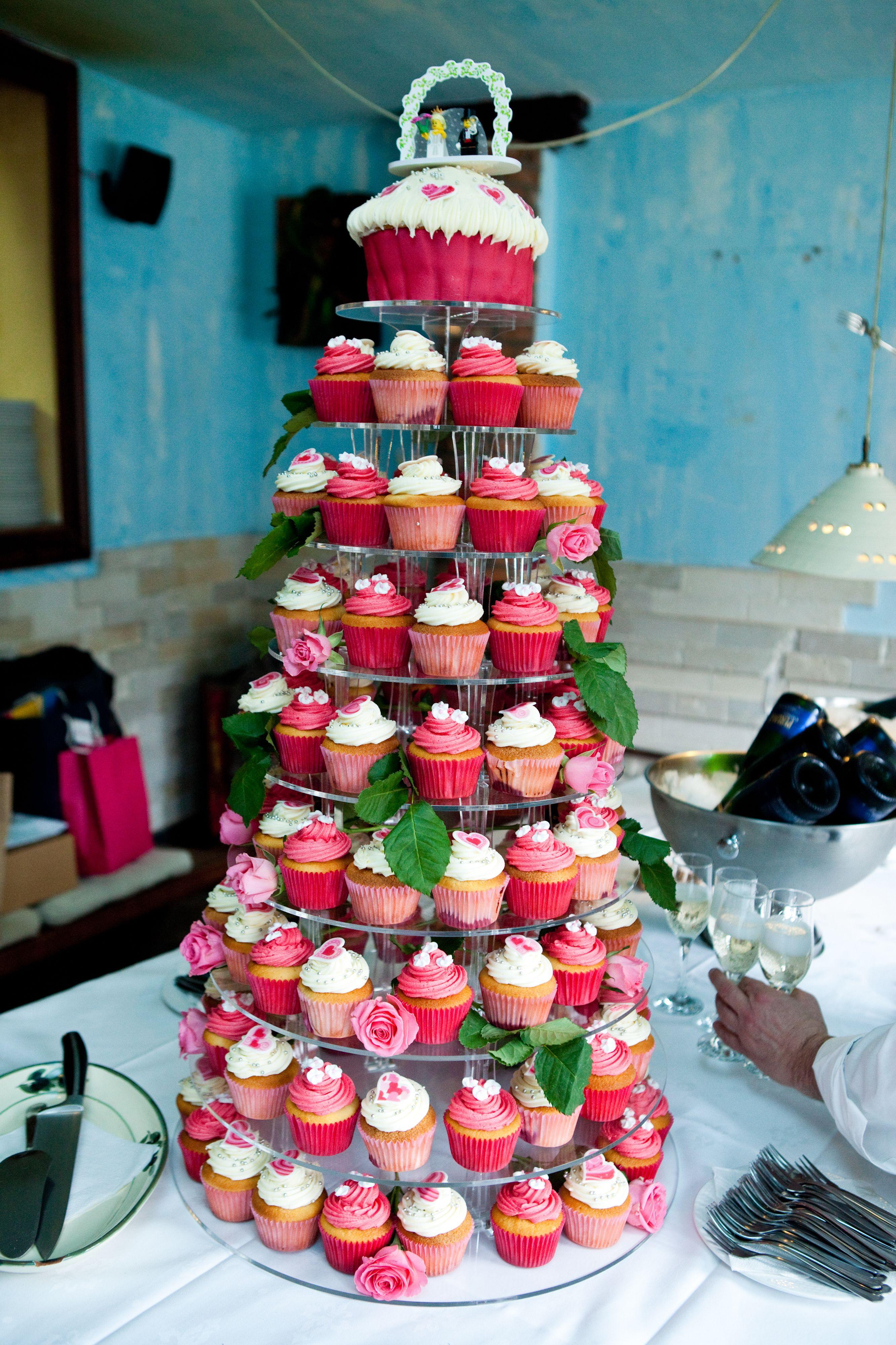A cupcake tower for a spring wedding ten to three weddings