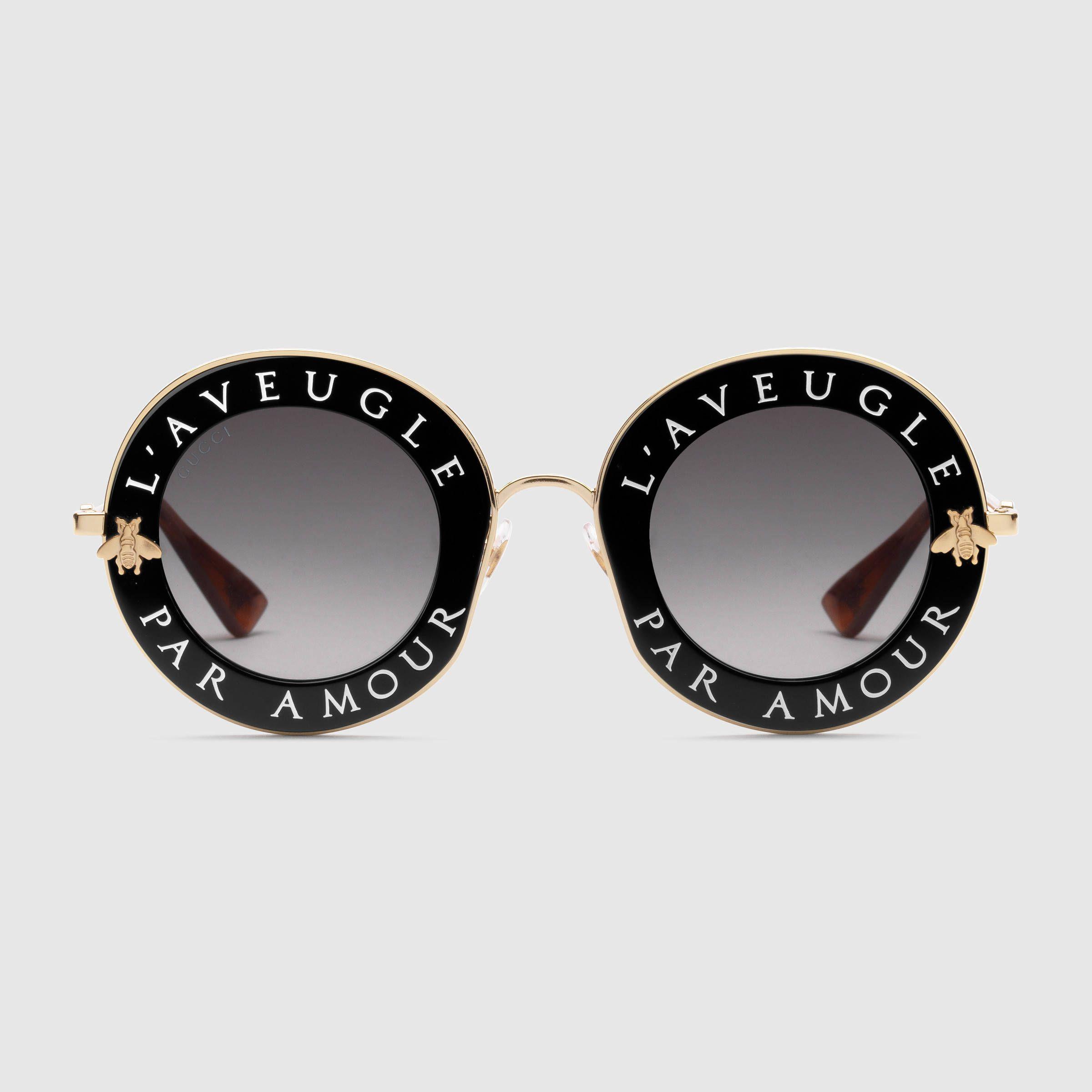 4eeb07a03785a Lunettes de soleil rondes Gucci