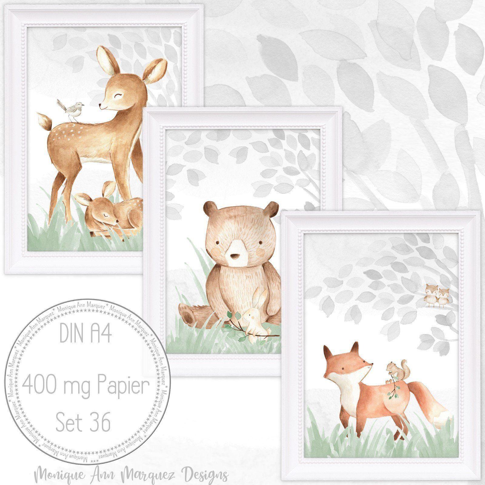 Babyzimmer Bilder Kinderzimmer Bilder Wald Tiere Fuchs
