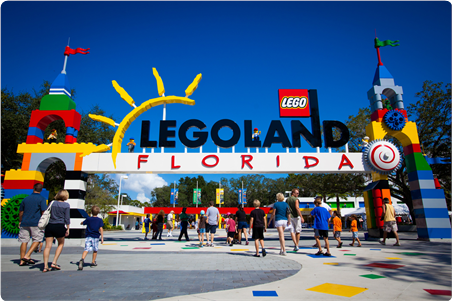 LEGOLAND® Florida, a playful World of LEGO® adventures.    This 150- acre family theme park, located in Winter Haven, offers more than 50 rides, shows and attractions geared for families with children ages 2 to 12 and ultimate LEGO fans.