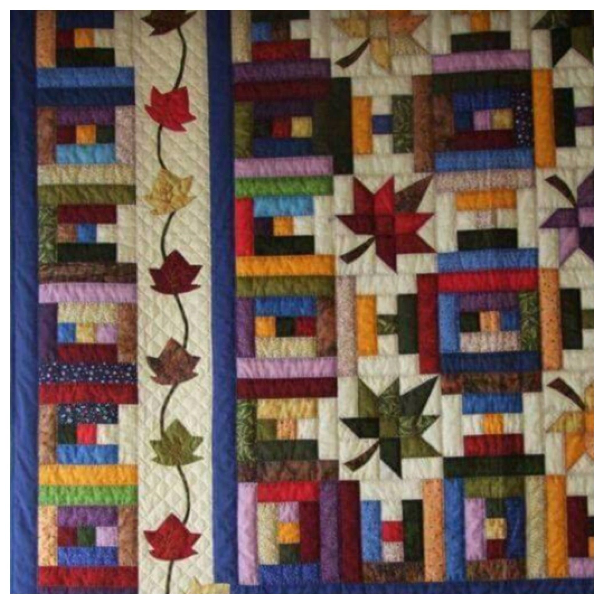 Maple Leaf And Courthouse Steps Combo Pattern Quilts