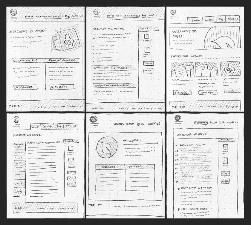 Sketches for website design | Web design | Pinterest | Website ...