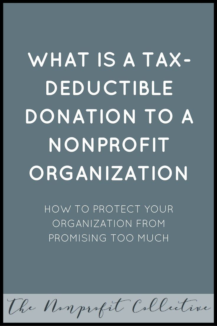 What is a Tax-Deductible Donation to a Nonprofit ...