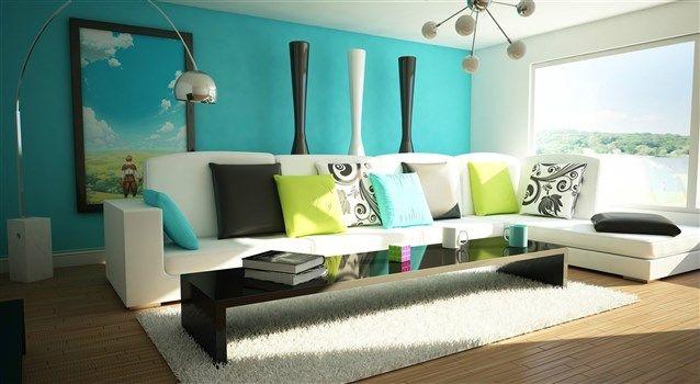 كيفية تنسيق الوان غرف الجلوس Living Room Turquoise Colorful Living Room Design Blue And Green Living Room