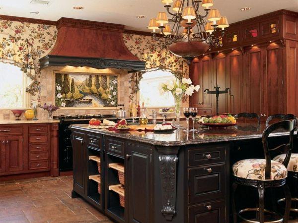 küche mit kochinsel und hervorragenden gardinen Interieurdesign - gardine für küche