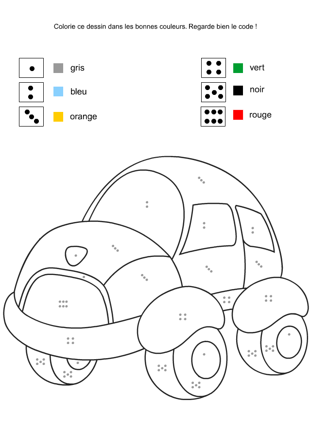 Exceptionnel 4-6 ans Fiche 14 : coloriage codé | maths | Pinterest | Coloriage  RW11