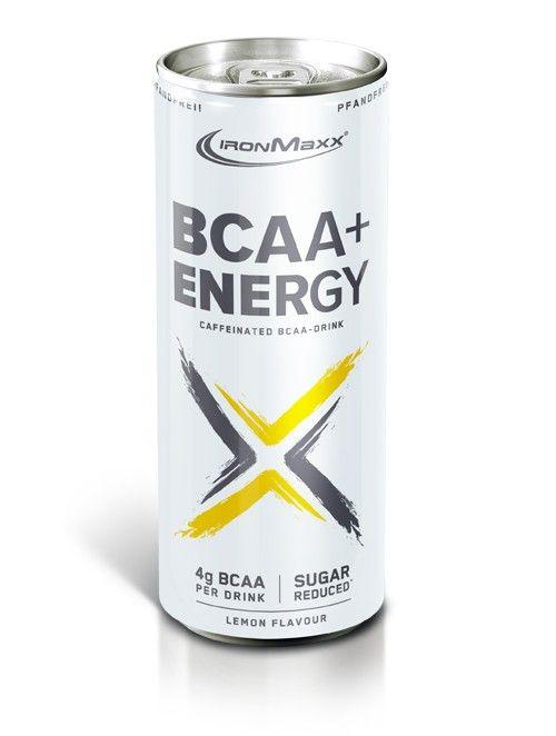Energie für Körper und Geist  Der neue BCAA + ENERGY liefert deinem Körper das, was der Name verspricht. Eine Dose des Sportgetränks liefert 99 g Koffein und 4 g BCAAs. Durch die Optimierung mit den Nährstoffen Biotin, Vitamin B6 und B12 trägt es zu einer normalen Funktion des Energiestoffwechsels bei.  Die enthaltene Folsäure trägt außerdem zu einer normalen Aminosäurensynthese bei     BCAAs im 2:1:1 Verhältnis     Die drei wichtigen Aminosäuren Leucin, Valin und Isoleucin liegen in einem…